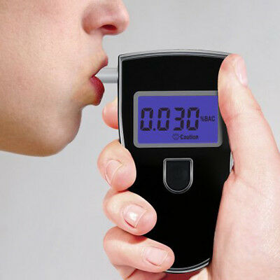 High Accurate Home Breathalyser Analyzer Police Digital Breath Alcohol Tester