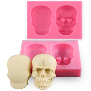 3D skull Sugar Chocolate Mould for Cake Craft Decoration Tool