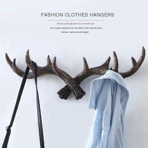 Modern Wall Hanger Deer Antler Style Hat Coat Bag Rack Hook Holder Wall Decor