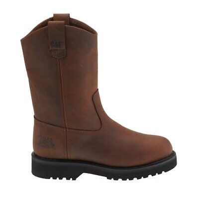 Caterpillar Men's Austin Wellington Pull Up Leather Steel Toe Boots 7.5