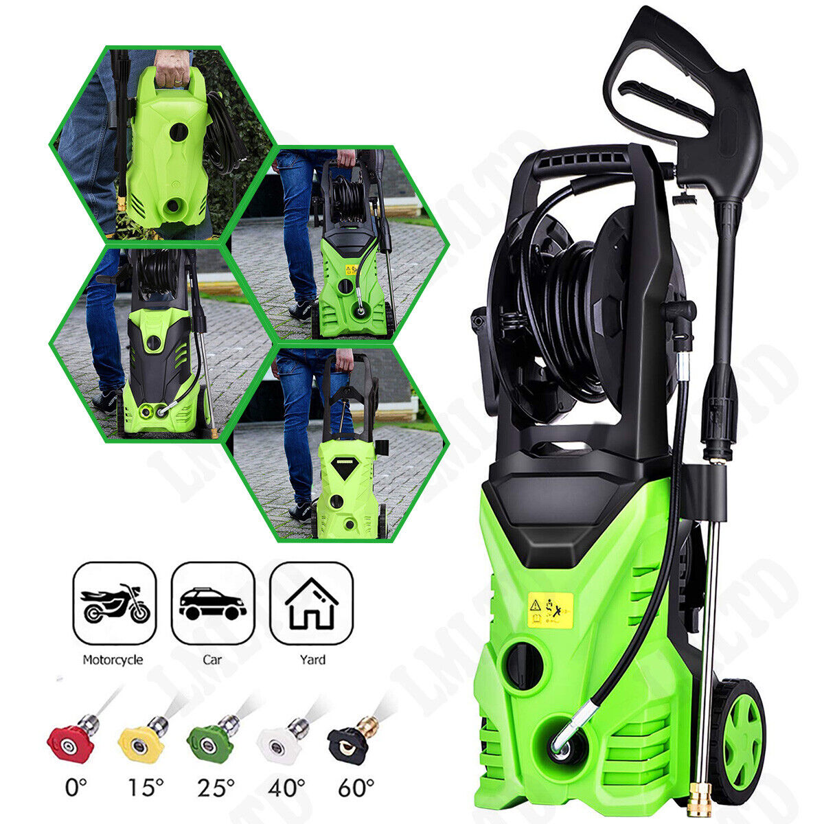 3500PSI 2.6GPM Electric High Pressure Washer Cold Water Clea