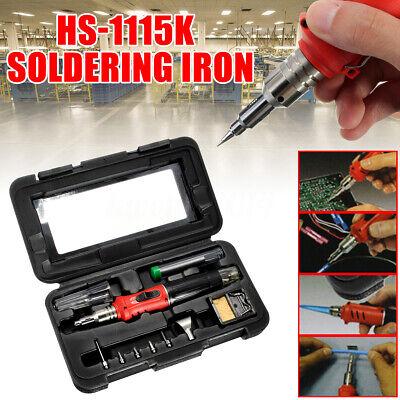 10pcs Set Hs-1115k Professional Butane Gas Soldering Iron Welding Kit Torch Hot