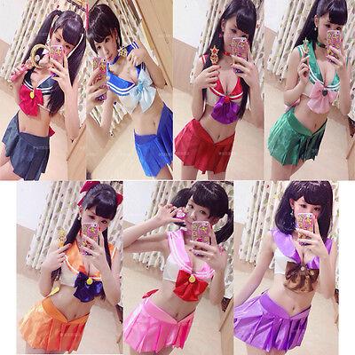 QaoQan Sailor Moon Mercury Mars Sailor Jupiter Venus Costumes Bikini suit