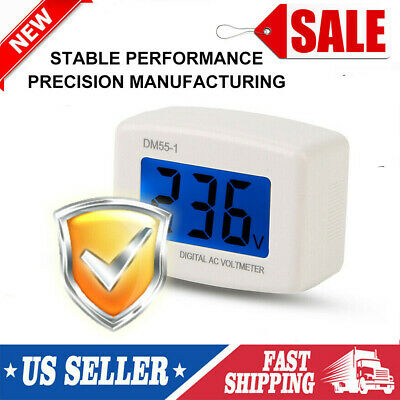 Dm55-1 Digital Lcd Voltage Test Monitor Us Plug In Volt Meter Ac 80-300v W8o4