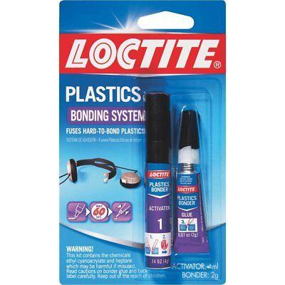 6 Pack Loctite Plastic Glue Bonder