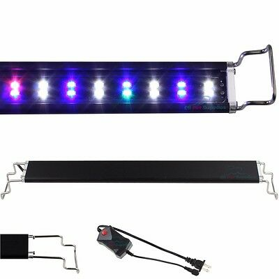 "12""-48"" LED Light Aquarium Fish Tank 0.5W Full Spectrum Plant Marine FOWLR"