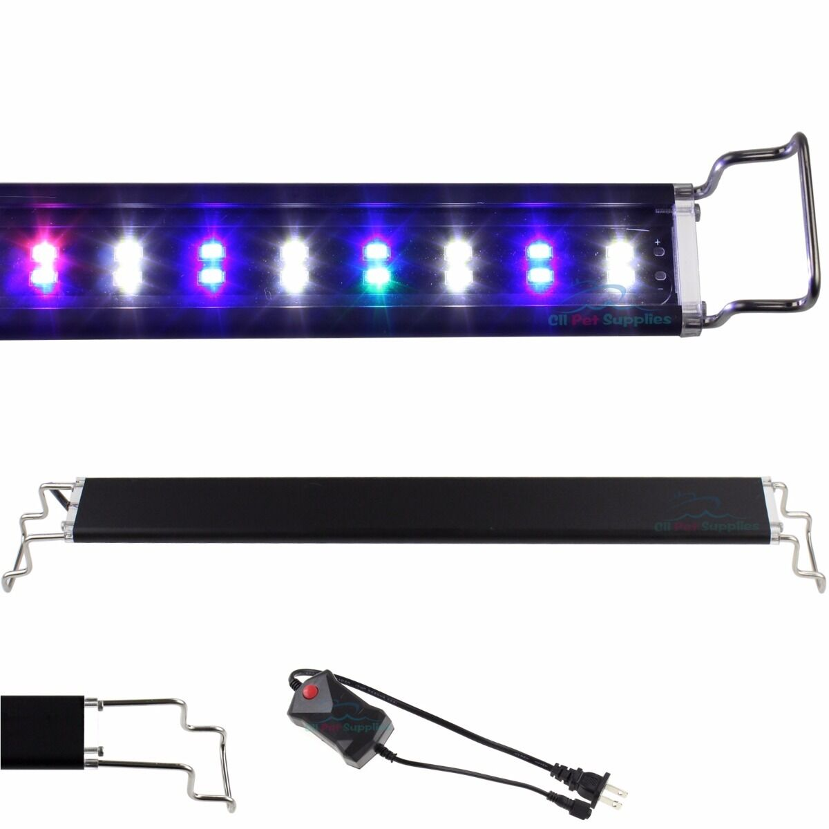 Купить AQUANEAT - 12-48 LED Light Aquarium Fish Tank 0.5W Full Spectrum Plant Marine FOWLR