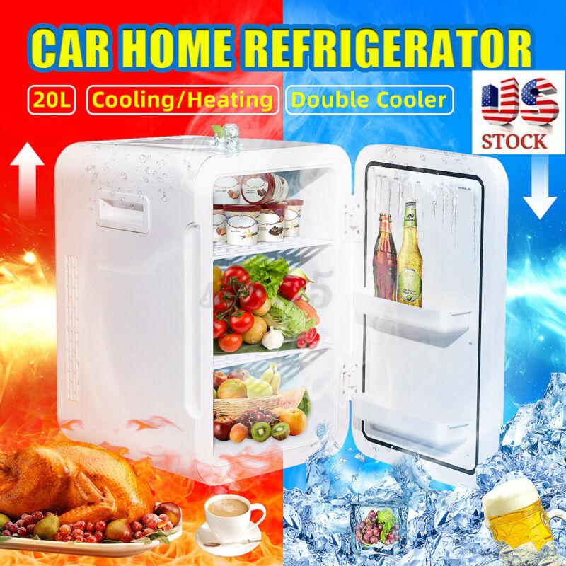 20L Mini Fridge Home Car Refrigerator Freezer Cooling Heating Dual-Use