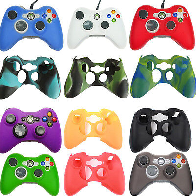 18 Colors Silicone Soft Rubber Gel Grip Case Skin Cover for Xbox 360 Controller ()