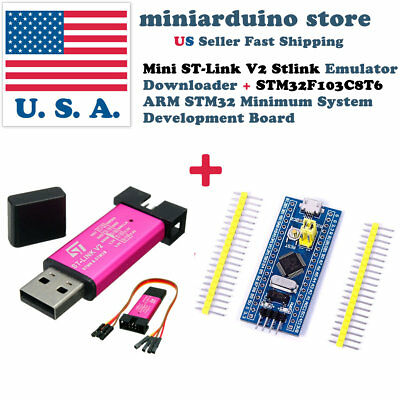 Mini St-link V2 Stlink Emulator Program Stm32 Stm32f103c8t6 Development Board
