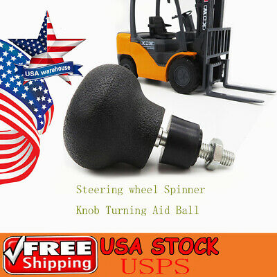 1pc Steering Wheel Spinner Knob Turning Aid Ball Tractor Forklift 8mm Screw Usa