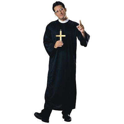 Priest Costume Adult Mens Religious Catholic Father Vicar Halloween Fancy Dress - Catholic Priest Costume