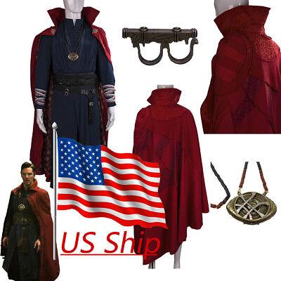 Cosplay Movie Doctor Strange Steve Full Set Costume Robe Ring Halloween Costume