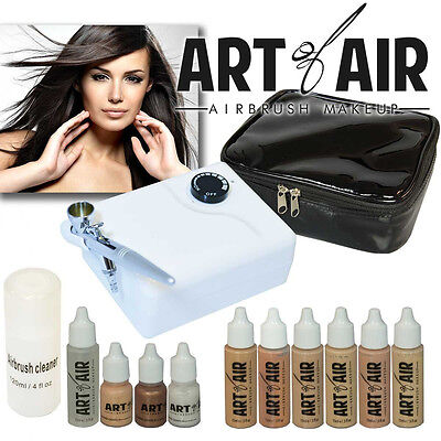 Art of Air Professional Airbrush Cosmetic Makeup Kit / Fair