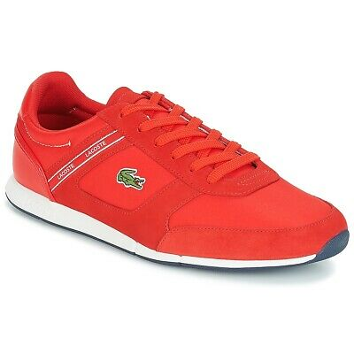 Lacoste MENERVA SPORT 318 Red Mens Size 7.5M COMFORT Fashion Sneakers Shoes