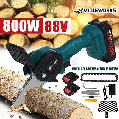 800W 88v sierra eléctrica cortadora de carpintería sin cuerda con 2 baterías