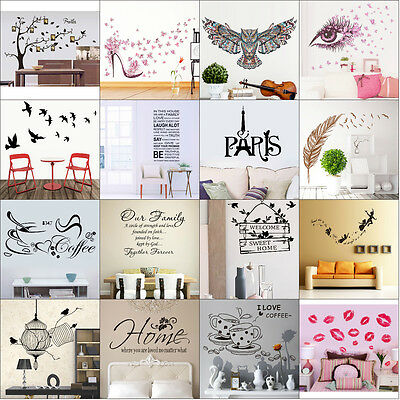 Removable Vinyl Home Room Decor Tree Quote Wall Decal Stickers Bedroom Mural Lot - Mint Room Decor