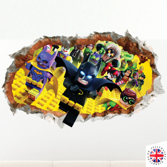 D Lego Batman Wall Sticker Vinyl Mural Poster Bedroom Boys Girls - Lego wall decals vinyl