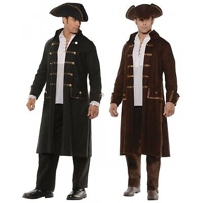 Pirate Costume Adult Long Coat and Hat - Pirate Costumes