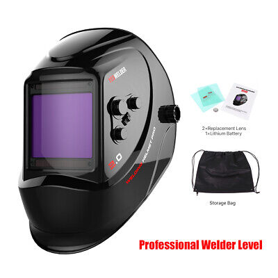 Pro Solar Auto-darkening Welding Helmet Upgraded Welder Mask Hood Arc Tig Mig