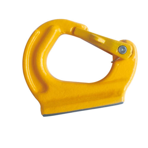 2T Welded on Anchor Hook Grade 80 with Latch Painted Yellow