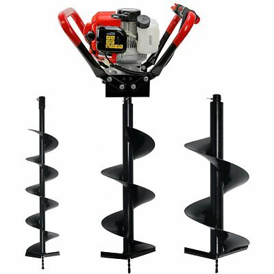 Post Hole Digger Auger 2-stroke Gas 55cc Engine With 6 10 12 Drilling Bits