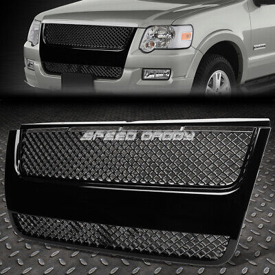 FOR 06-10 EXPLORER U251 SUV BLACK PLASTIC MESH BENTLEY STYLE FRONT GRILL/GRILLE Bentley Style Mesh Grille
