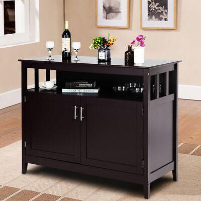 Modern Kitchen Storage Cabinet Buffet Server Table Sideboard Dining Wood Brown Modern Buffet Cabinet