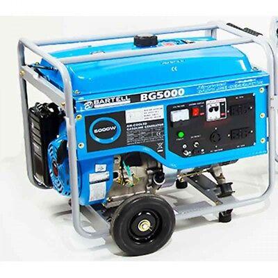 BARTELL GLOBAL BG5000 GENERATOR 5000 WATT 60HZ 120V/240VR BRUSHLESS ALTERNATOR