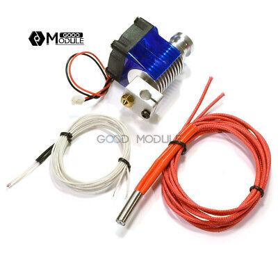 3d Printer V6 Extruder Metal J-head Hotend 1.75mm Extruder 0.4mm Nozzles M111