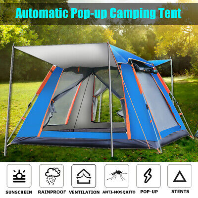 4-5 People Large Waterproof Automatic Outdoor Instant Pop Up Tent Camping Family