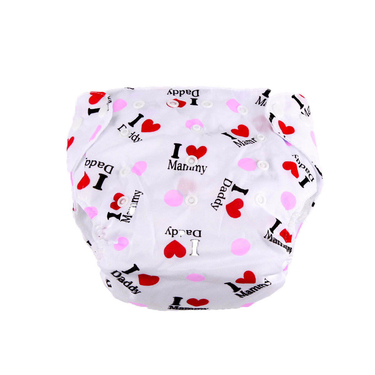 5pcs+ 5INSERT Lovely printing Adjustable Reusable Washable Cloth Diaper Nappies  Pink I Love Mammy/Dady
