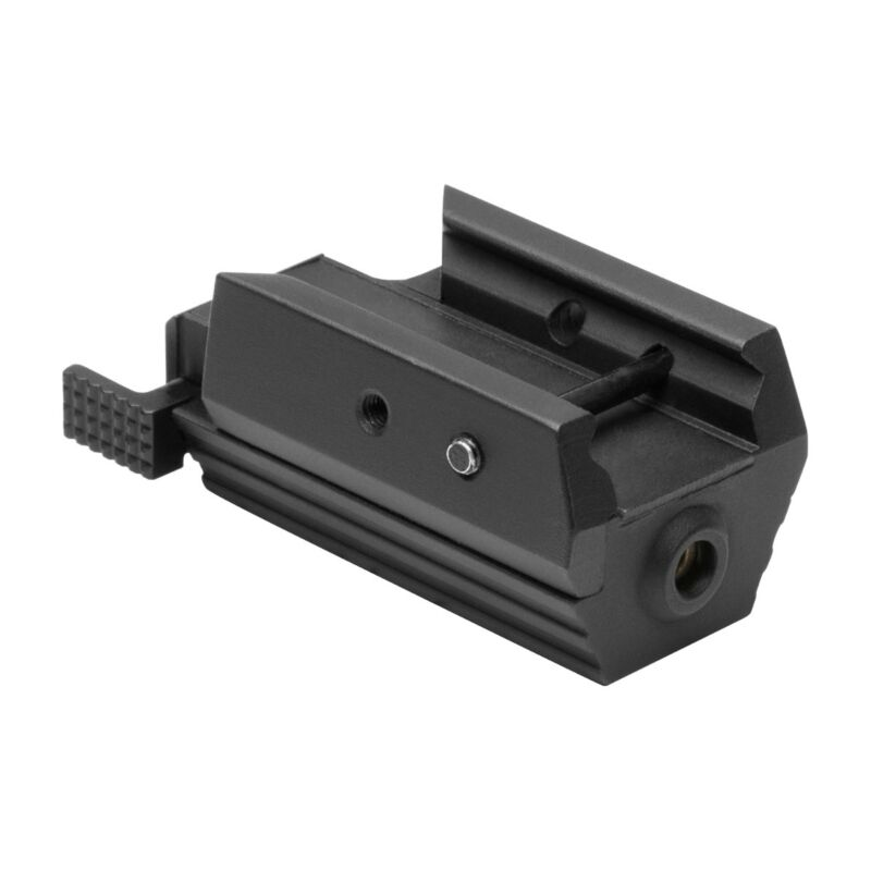 NcStar AAPRLS Pistol Low Profile Compact Red Laser Sight Weaver/Picatinny