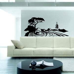 zen garden wall decal sticker vinyl decor mural bedroom
