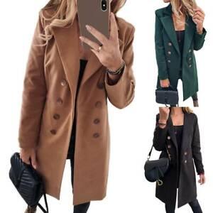 Women-Overcoat-Woolen-Trench-Coat-Ladies-Peacoat-Winter-Long-Jacket-Outwear