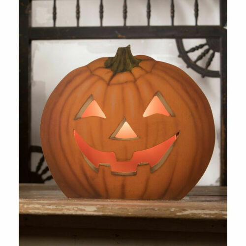 Bethany Lowe - Halloween - Pumpkin Dummy Board Luminary - BB9356