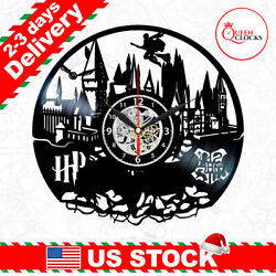 Harry Potter Hogwarts Vinyl Record Wall Clock Kid Home Room Decor Christmas Gift