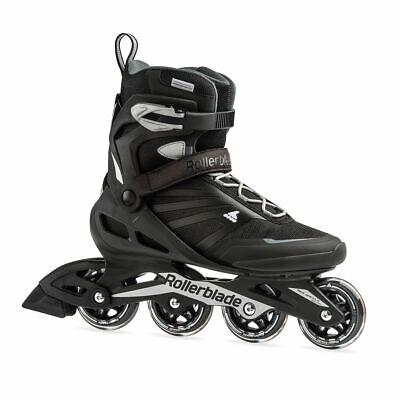 Rollerblade Zetrablade Adult Mens Beginner Fitness Inline Skates, Size 9, Black