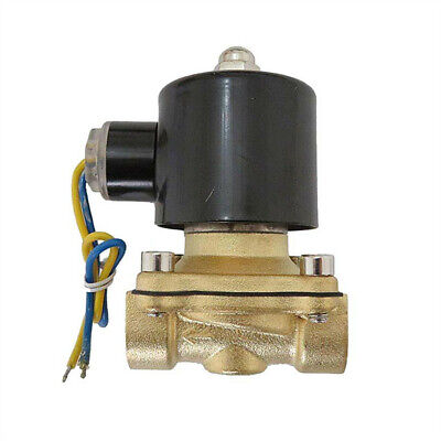 12 Inch 12v Dc Slim Brass Solenoid Valve Used With Co2 Compressed Water Air Oil
