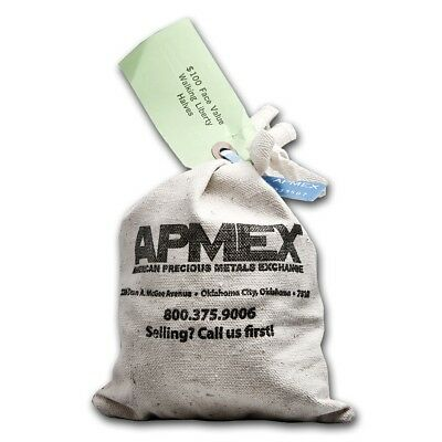 90% Silver Walking Liberty Half Dollars $100 Face-Value Bag - SKU #5294