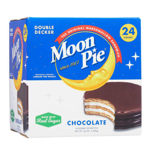 Chattanooga Moon Pie Double Decker Pies, Chocolate, 2.75 oz, 24-count