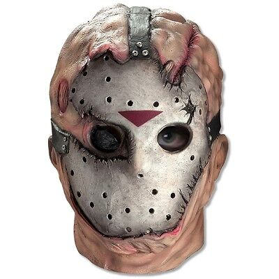 Deluxe Jason Mask Friday the 13th Adult Mens Full Overhead Latex Costume Acsry