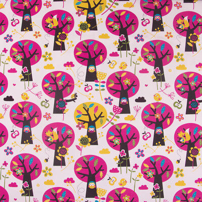 Lillestoff Bio Jersey organic Appletree Apfelbaum Eule beige pink braun - Apple Kostüm Kinder