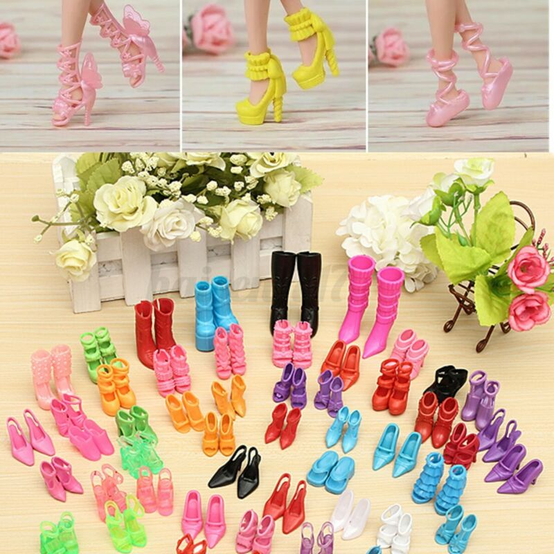 120Pcs Fashion Doll High Heels Shoes Boots Sandals For 11.5