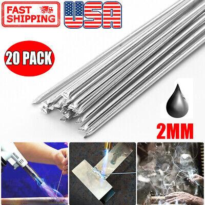 20pcs Aluminum Solution Welding Flux-cored Rods Wire Brazing Rod 2mm X 50cm New