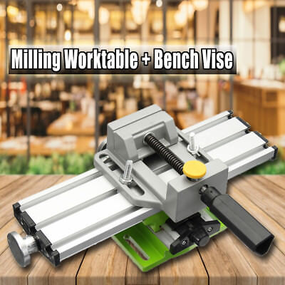 Multifunction Lathe Bench Drill Milling Cross Sliding Table Drill Press Vise