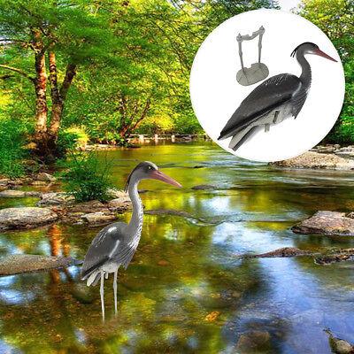Large Plastic Resin Decoy Heron Garden Ornament Yard Decor Bird Scarer Fish -
