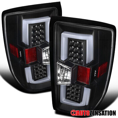 For 2014-2017 Chevy Silverado 1500 2500 HD All Black LED Bar Tail Brake Lights