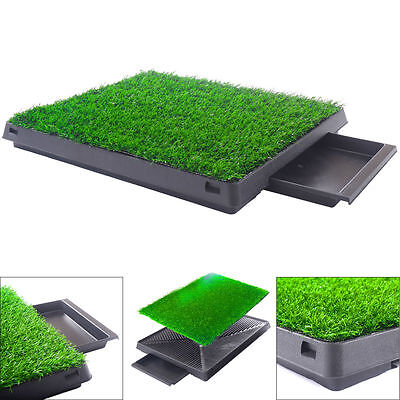 Dog Pee Pads Potty Puppy Training Grass Indoor Potty Toilet W/tray Pet Mat Tray - Indoor Dog Toilet