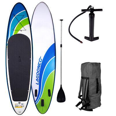 SUP Board Stand Up Paddling Surfboard aufblasbar inkl. Paddel ISUP Paddle 320cm